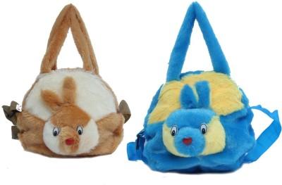 ARIP Girls, Women Brown, Blue Velvet Sling Bag