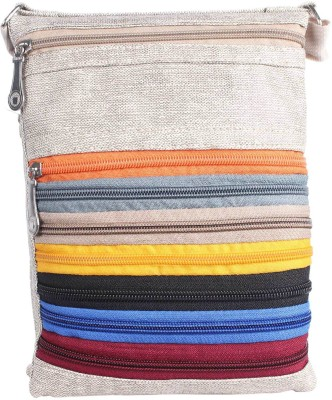 Mela Women Beige PU Sling Bag