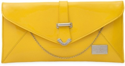 SkyWays Women Casual, Evening/Party Yellow PU Sling Bag