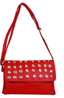 Triveni Women Red Rexine Sling Bag