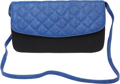 Life by Shoppers Stop Women Casual Blue Polyester Sling Bag