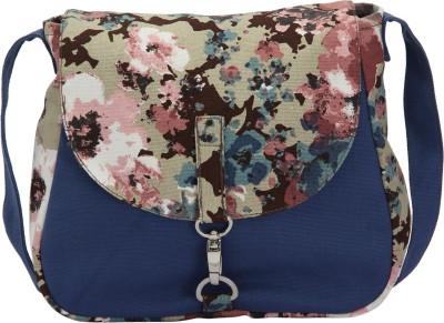 Vogue Tree Women Casual Blue Canvas Sling Bag