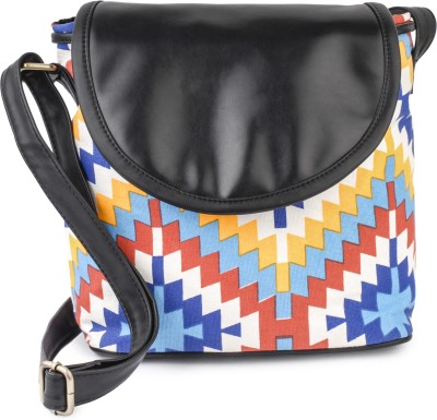 Lychee Bags Women Casual Multicolor Canvas Sling Bag