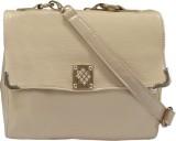 Hi Look Women Casual Beige PU Sling Bag