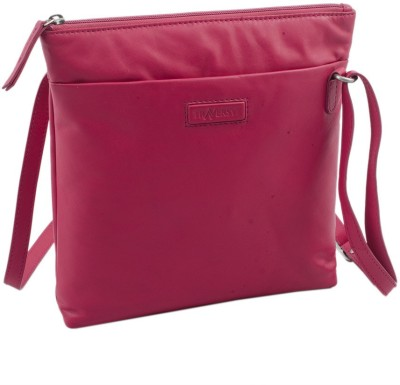 Traversys Girls Casual Pink Genuine Leather Sling Bag