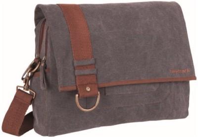 Fastrack Men, Boys Grey Canvas Messenger Bag