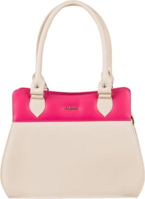 Lady World Girls, Women Beige, Pink PU Hand-held Bag