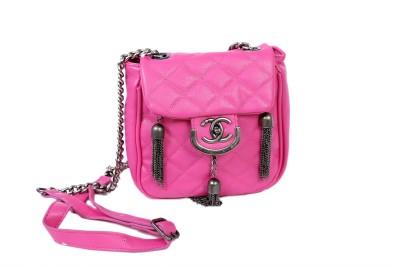 Brndey Girls Evening/Party Pink PU Sling Bag