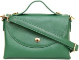 AQ Women Casual Green PU Sling Bag