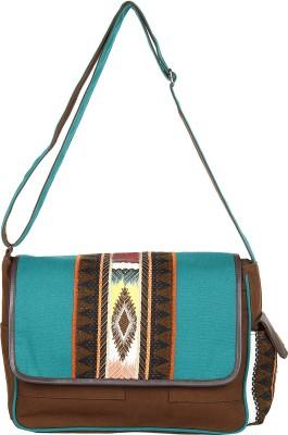 Anekaant Women Multicolor Canvas, PU Sling Bag
