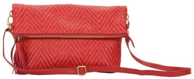 SVI Women Casual Red Genuine Leather Sling Bag
