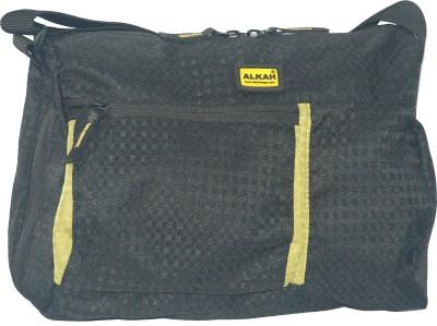 Alkah Men Black PU Sling Bag