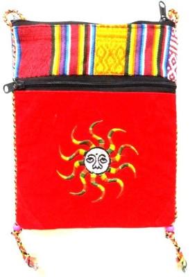 HR Handicrafts Girls, Boys Red Canvas Sling Bag