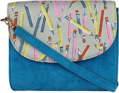 Berrypeckers Women Blue PU Sling Bag