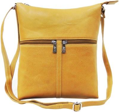 Mex Girls, Women Beige Leatherette Sling Bag
