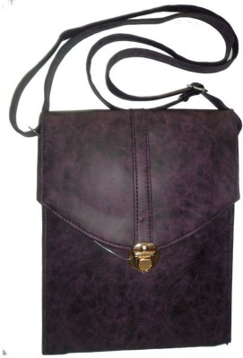 only colours Women Maroon Rexine Shoulder Bag