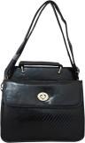 Heels & Handles Women Black PU Sling Bag