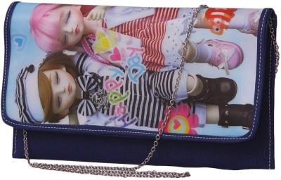 Notbad Girls Casual Blue PU Sling Bag
