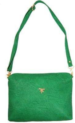 mezzo99 Girls, Women Green PU Sling Bag