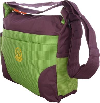 Arisha kreation Co Women Green Polyester Sling Bag
