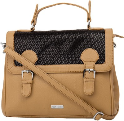 Beau Design Women Casual Beige PU Sling Bag