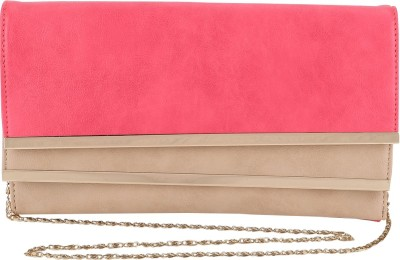 President Bags Women Evening/Party Pink, Beige Polyester Sling Bag