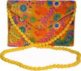 Vedic Deals Women Yellow Canvas Sling Ba...