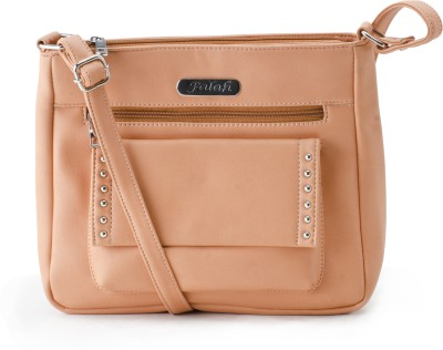 Falah Bag Works Women Pink PU Sling Bag