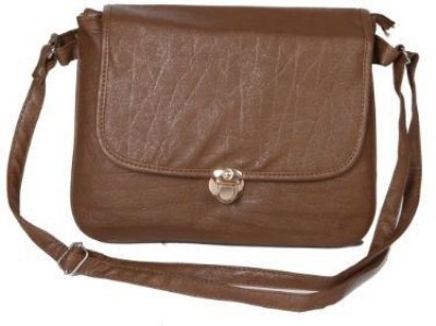 Kuero Women Brown Leatherette Sling Bag
