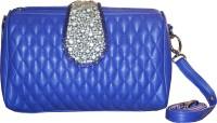AF Women Blue PU Sling Bag