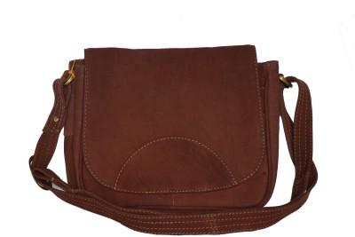 Matrix Women, Girls Brown Genuine Leather Sling Bag