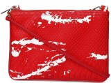 Cappuccino Women Red Leatherette Sling B...