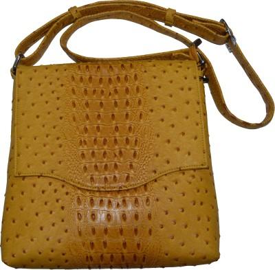 Knott Girls Yellow Leatherette Sling Bag