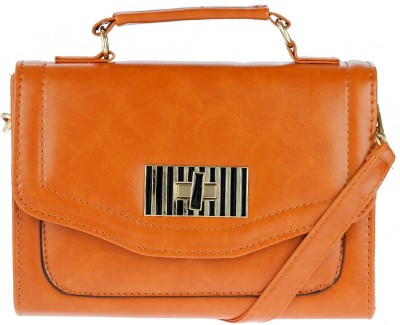 iva Women Tan Leatherette Sling Bag