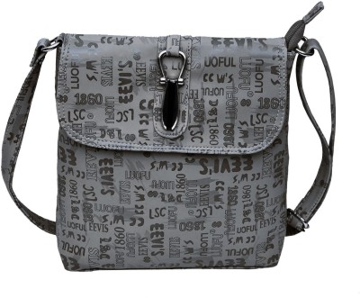 Hawai Women Casual Grey PU Sling Bag