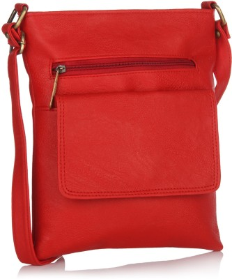 Alessia74 Women Casual Red PU Sling Bag