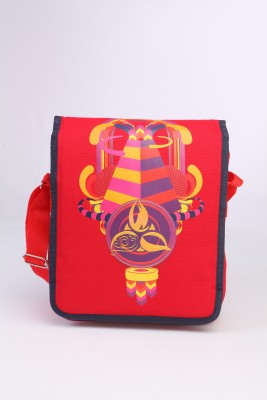 Imagica Men, Women Casual Red Canvas Sling Bag