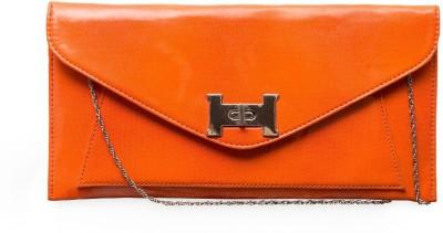 SkyWays Women Evening/Party Orange PU Sling Bag