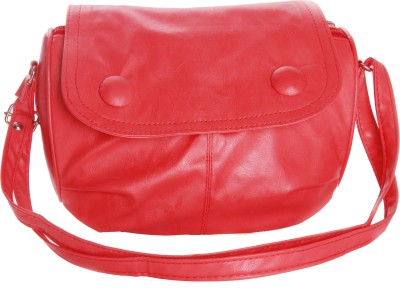 Felicita Girls Casual, Evening/Party Red PU Sling Bag
