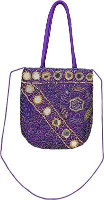 VERMELLO Girls, Women Casual, Evening/Party Blue Silk Sling Bag