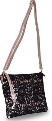 Zizelle Girls Casual Black PU Sling Bag