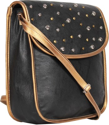 Tomas Women Black Leatherette Sling Bag