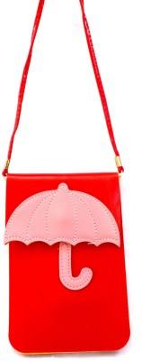 Mayursflora Women Red Leatherette Sling Bag