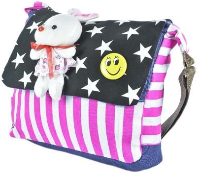 Stylathon Girls Black PU Sling Bag