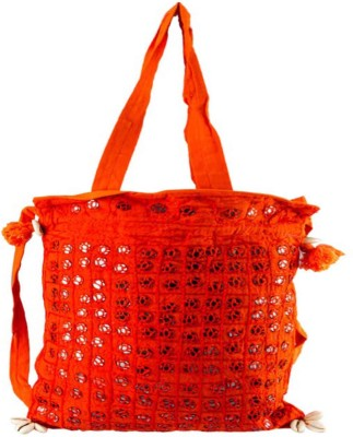 Great Art Women Orange Cotton Sling Bag
