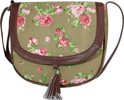 Lychee Bags Women Grey, Green, Pink Canvas Sling Bag