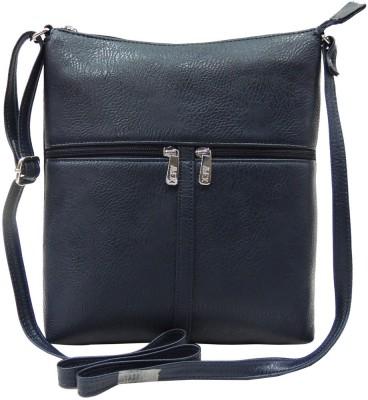 Mex Girls, Women Blue Leatherette Sling Bag