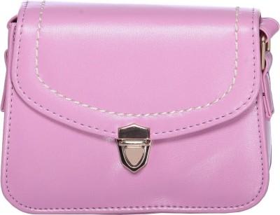 iva Women Pink Leatherette Sling Bag