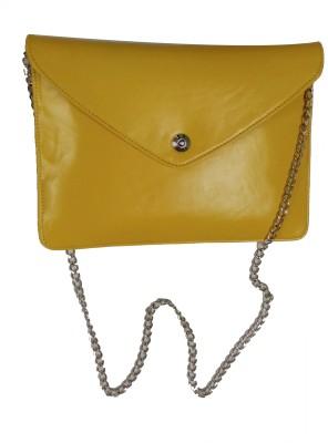 Ellye Girls Evening/Party Yellow PU Sling Bag