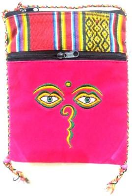 HR Handicrafts Girls Pink Canvas Sling Bag
